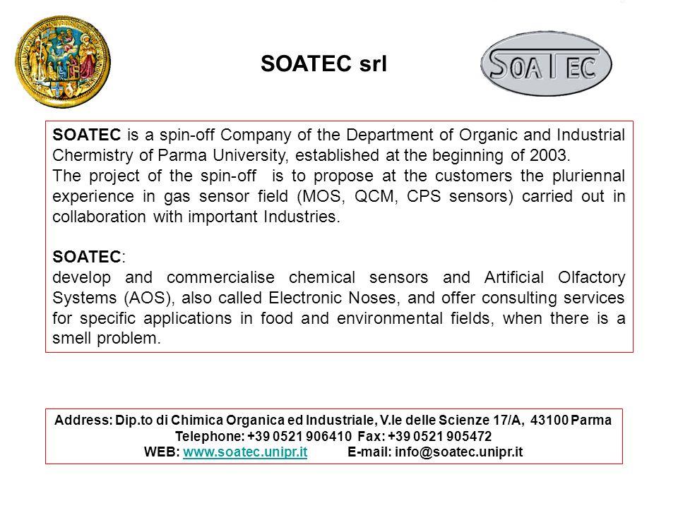 Address: Dip.to di Chimica Organica ed Industriale, V.le delle Scienze 17/A, 43100 Parma Telephone: +39 0521 906410 Fax: +39 0521 905472 WEB: www.soat
