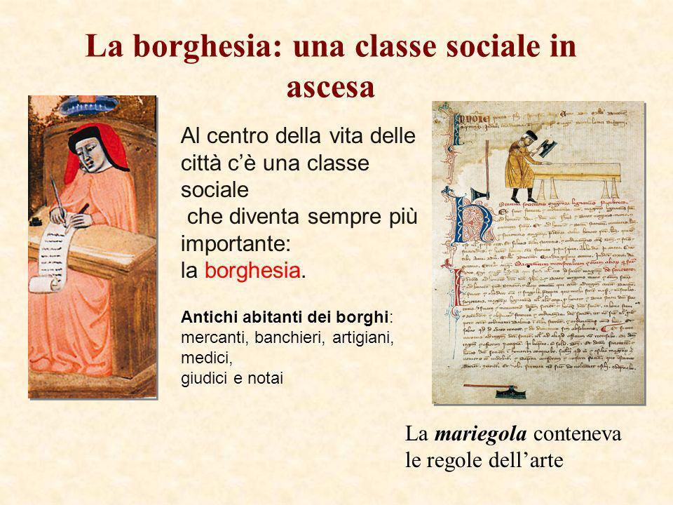 La borghesia: una classe sociale in ascesa Al centro della vita delle città cè una classe sociale che diventa sempre più importante: la borghesia. Ant