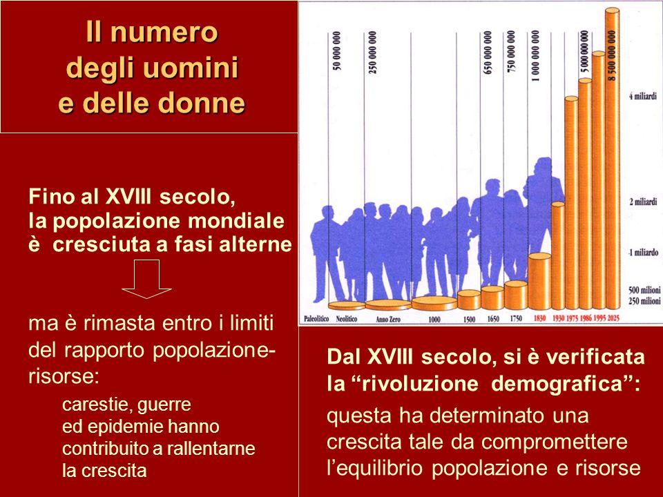 Il numero degli uomini e delle donne ma è rimasta entro i limiti del rapporto popolazione- risorse: carestie, guerre ed epidemie hanno contribuito a r