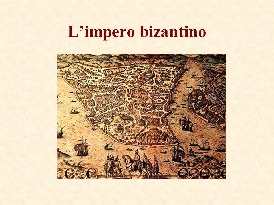 A Oriente fiorisce limpero bizantino Limpero doriente fu detto bizantino dal nome della capitale, Costantinopoli, Bisanzio.