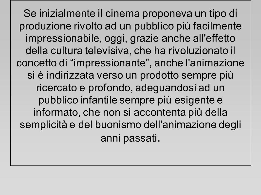 Se inizialmente il cinema proponeva un tipo di produzione rivolto ad un pubblico più facilmente impressionabile, oggi, grazie anche all'effetto della