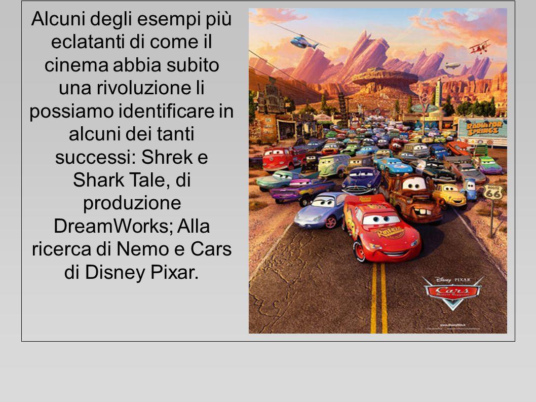 Alcuni degli esempi più eclatanti di come il cinema abbia subito una rivoluzione li possiamo identificare in alcuni dei tanti successi: Shrek e Shark