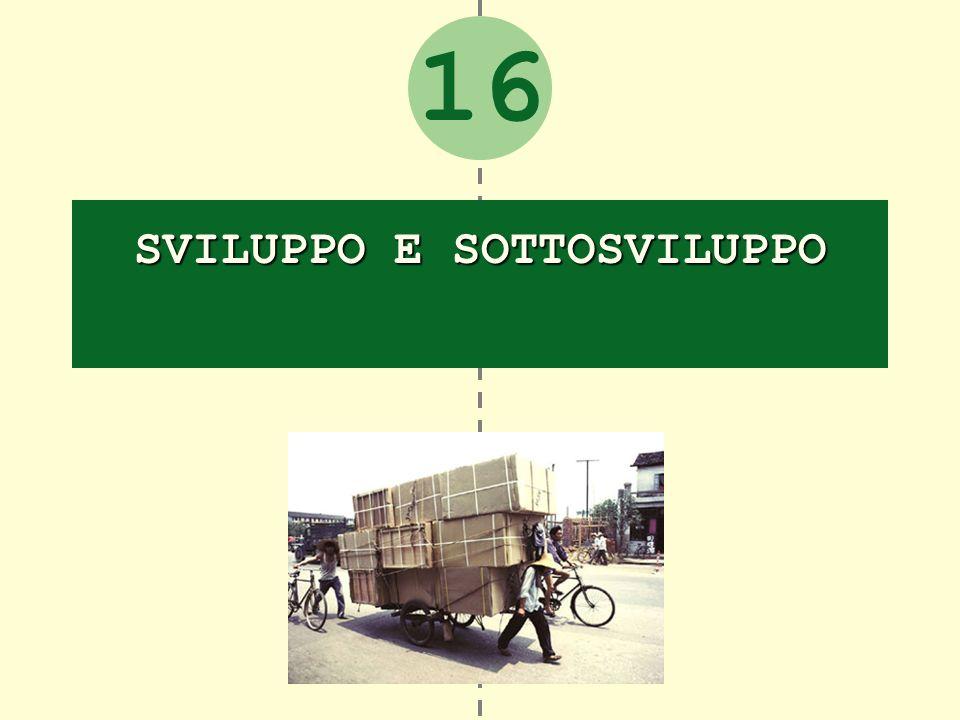16 SVILUPPO E SOTTOSVILUPPO