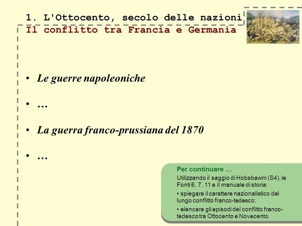 1. L Ottocento, secolo delle nazioni 1.