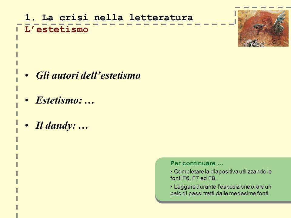 1. La crisi nella letteratura 1.