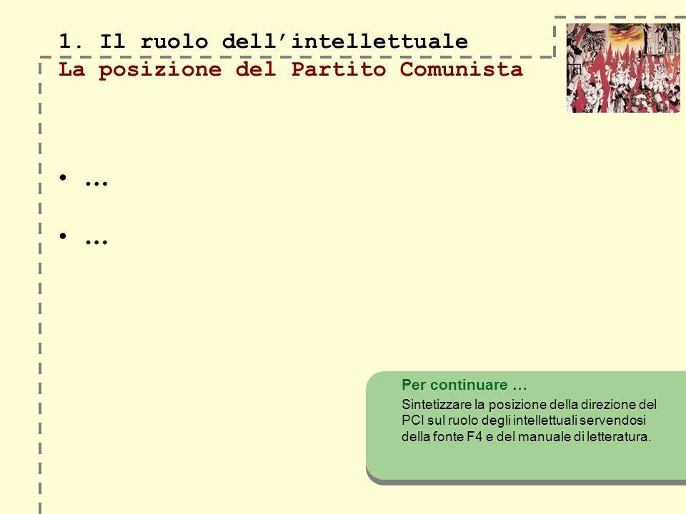 1. Il ruolo dellintellettuale 1.