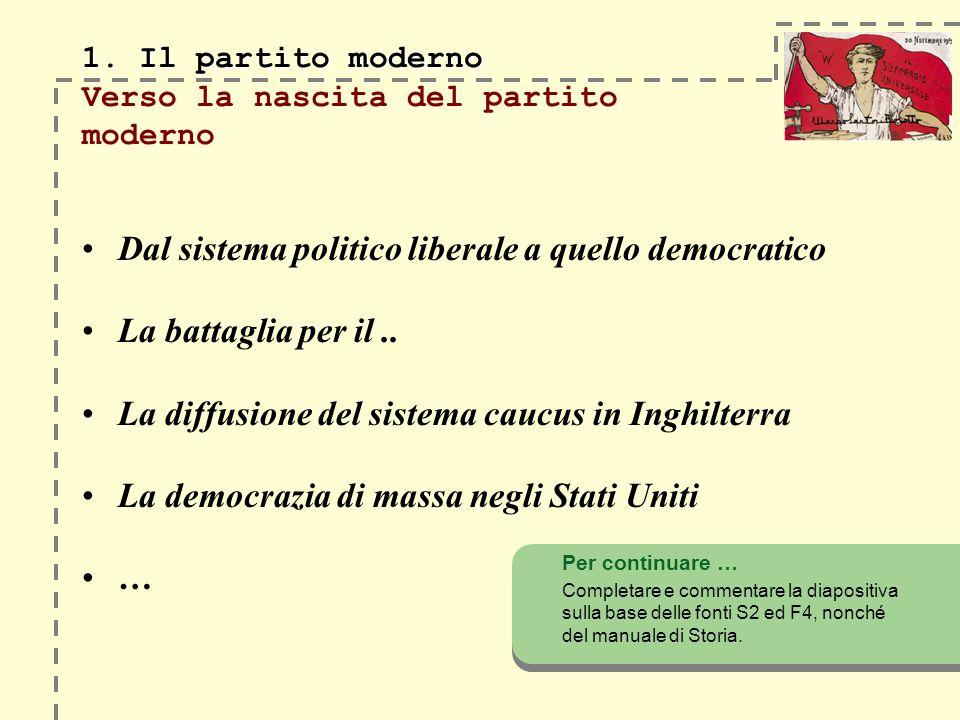 1.Il partito moderno 1.