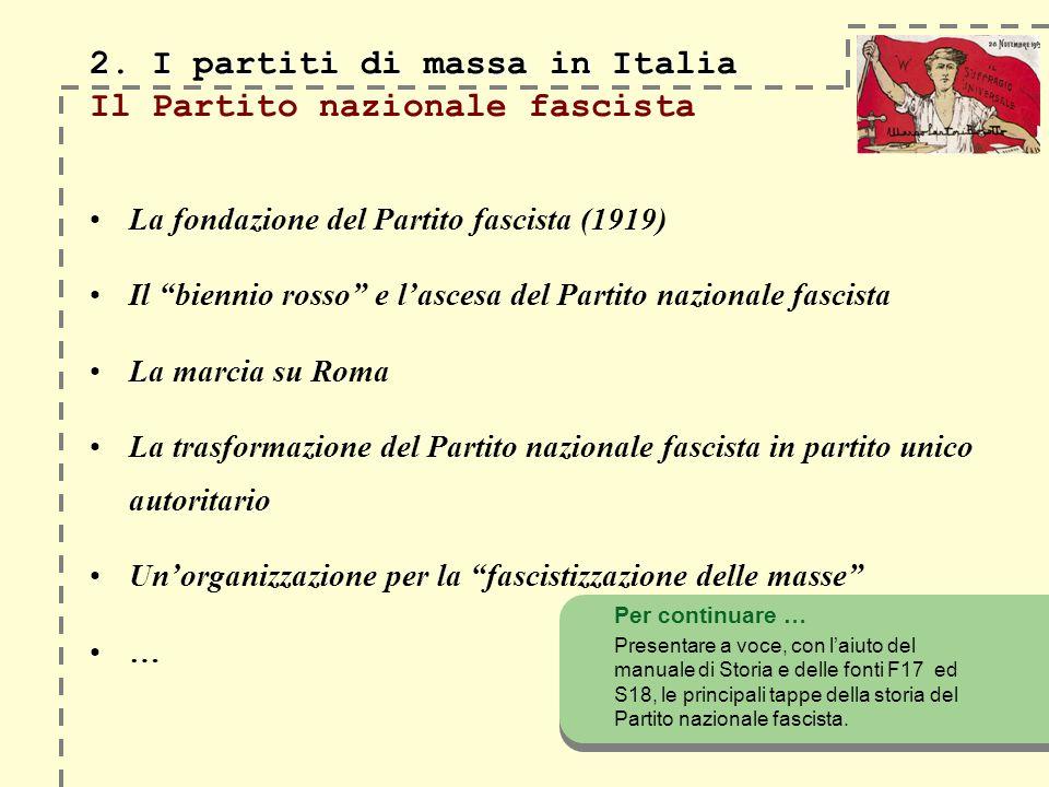 2.I partiti di massa in Italia 2.