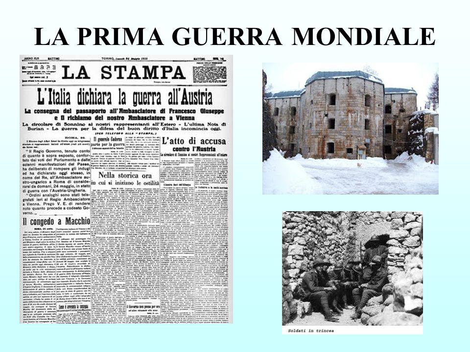 LINIZIO DELLA GUERRA 23 luglio Ultimatum dellAustria alla Serbia.