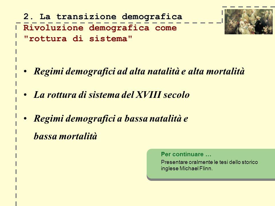 2. La transizione demografica 2.