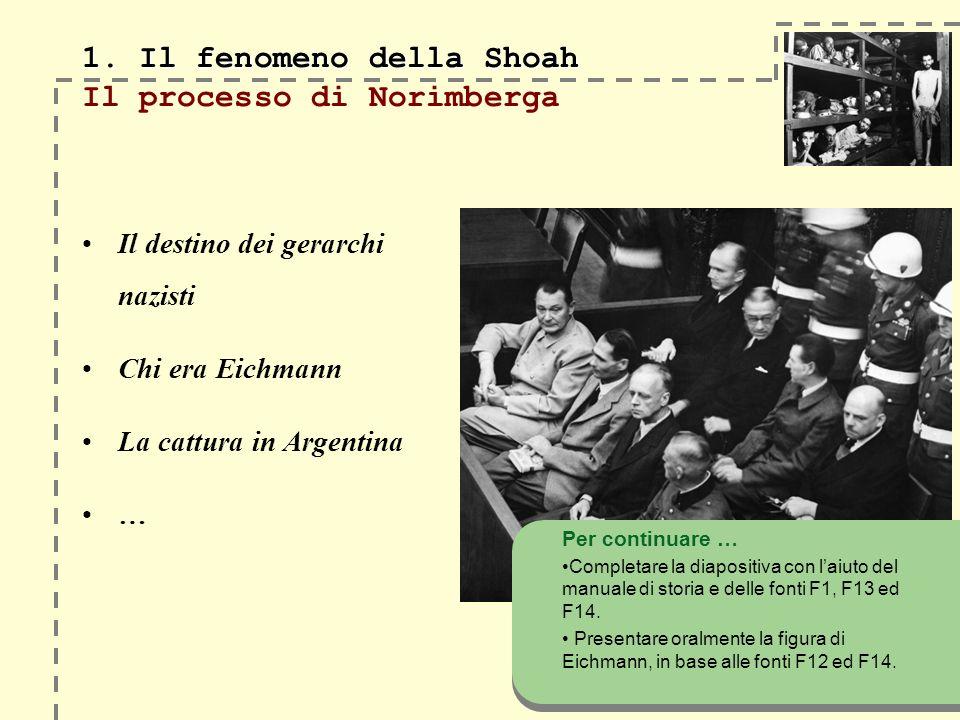 1. Il fenomeno della Shoah 1.
