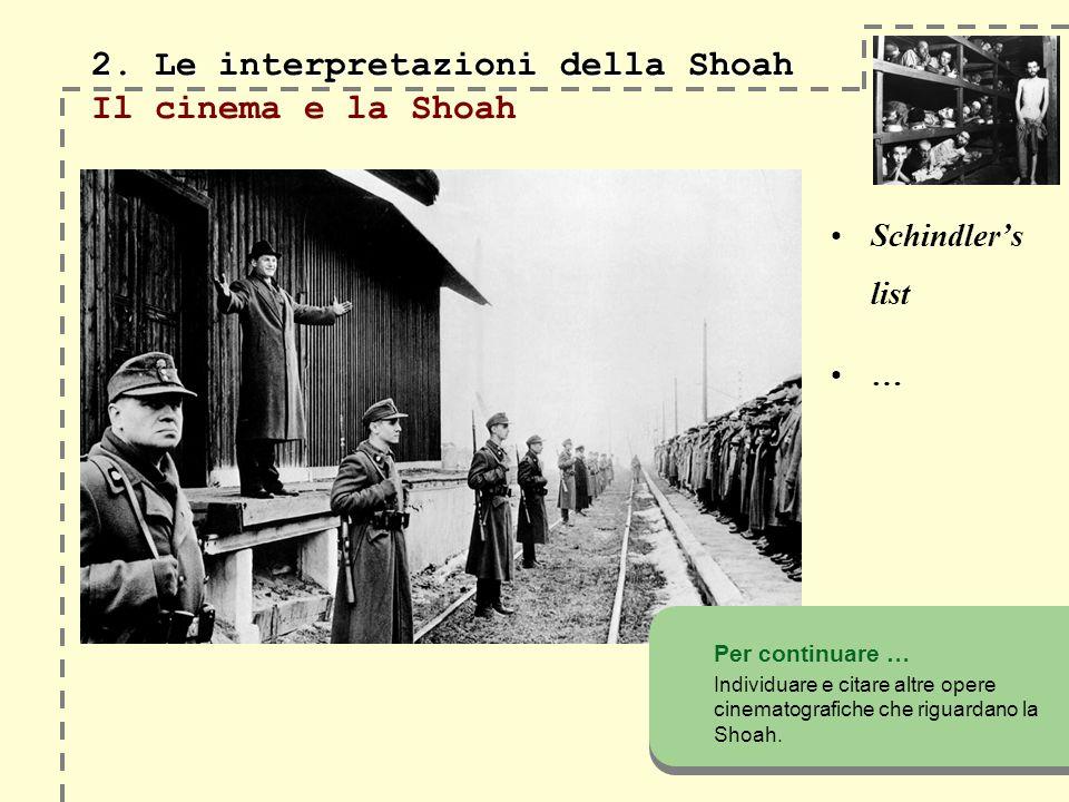 2.Le interpretazioni della Shoah 2.