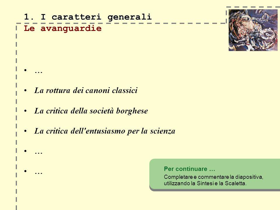 1. I caratteri generali 1.