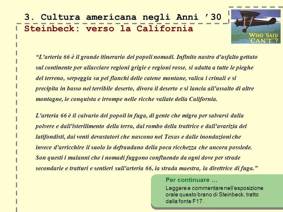 3. Cultura americana negli Anni 30 3.