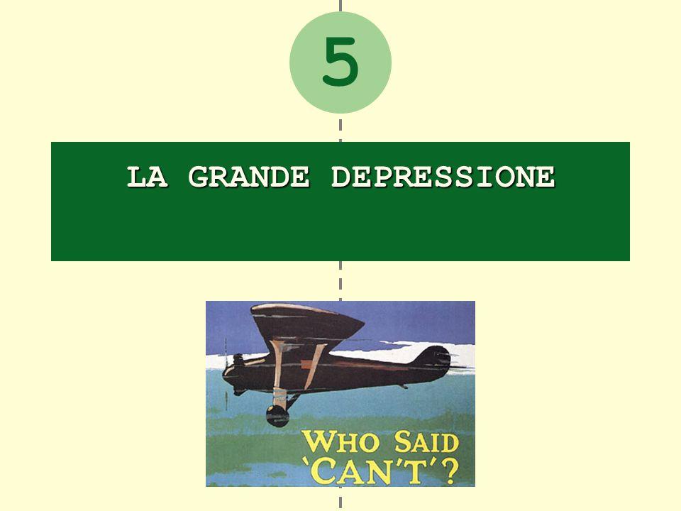 La Grande depressione La cultura americana fra la Grande crisi e il New Deal 1.