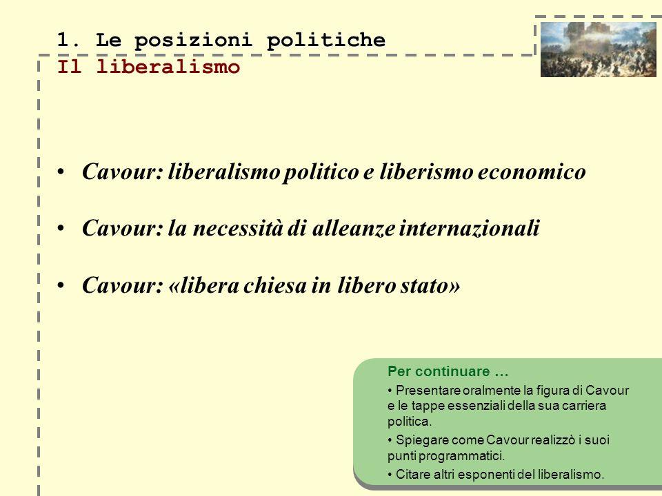 1.Le posizioni politiche 1.