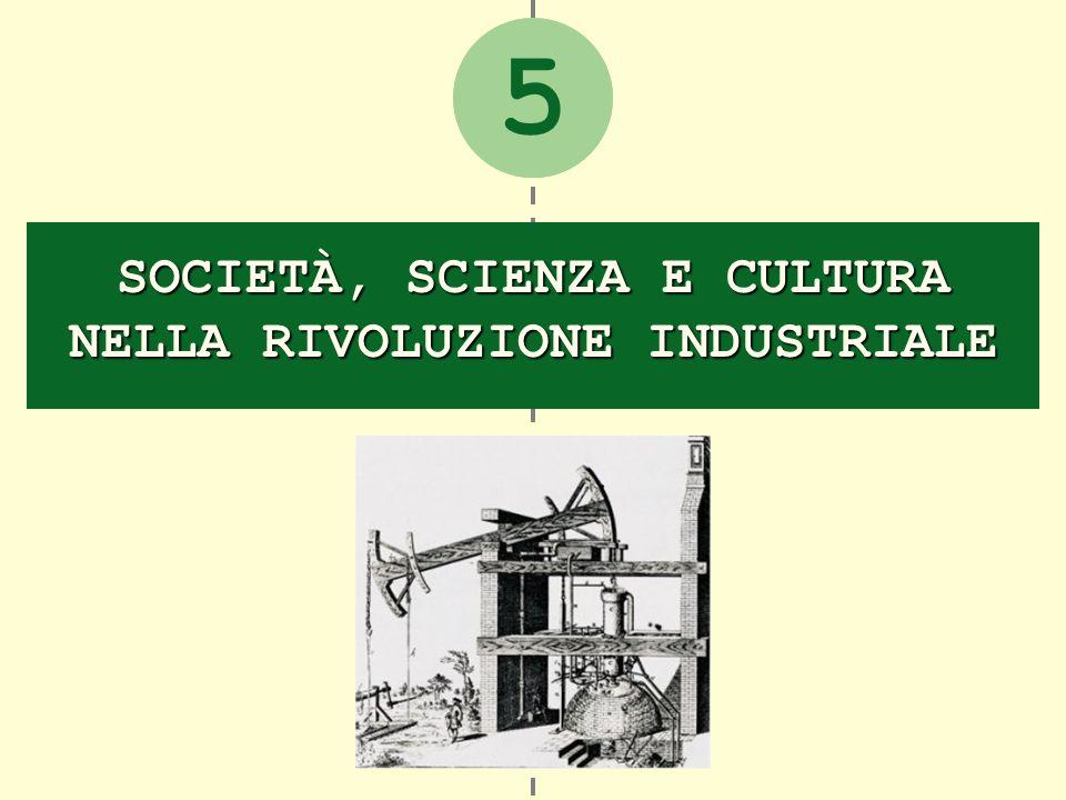 Società, scienza e cultura nella rivoluzione industriale Forme di produzione, consumi, rapporti sociali, tecnologie, infrastrutture, mentalità e cultura 1.