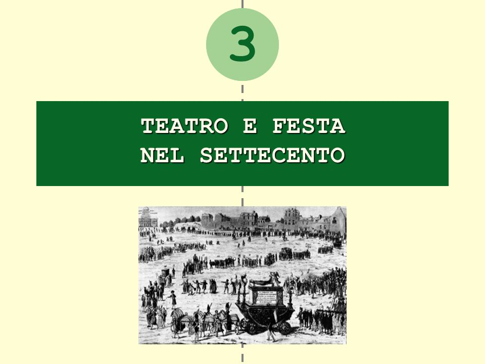 Teatro e festa nel Settecento La cultura popolare nel secolo dei Lumi 1.