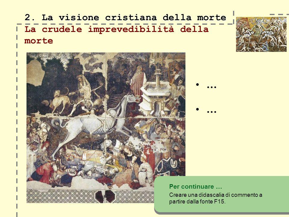 2. La visione cristiana della morte 2.