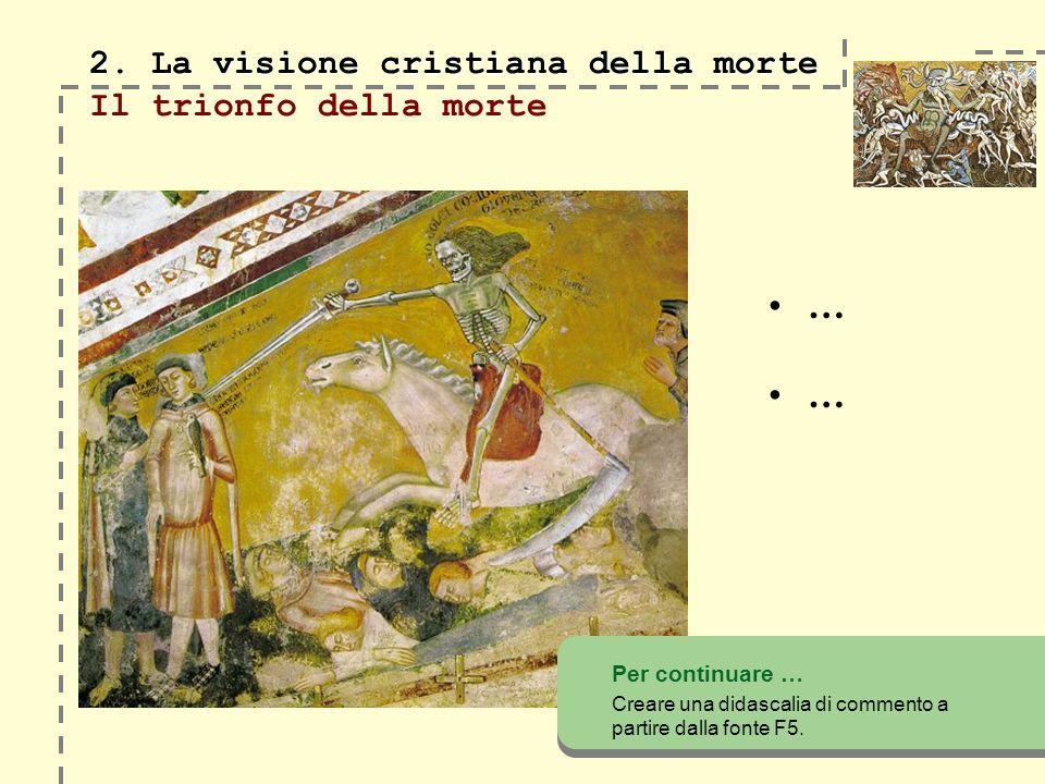 2.La visione cristiana della morte 2.
