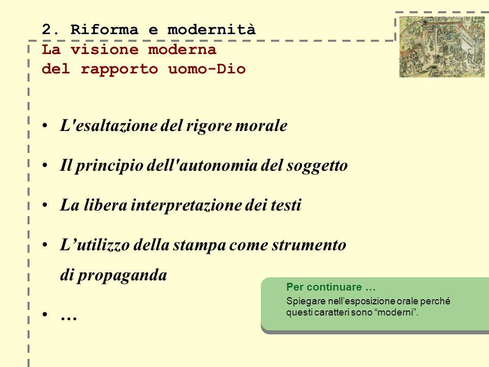 2. Riforma e modernità 2.