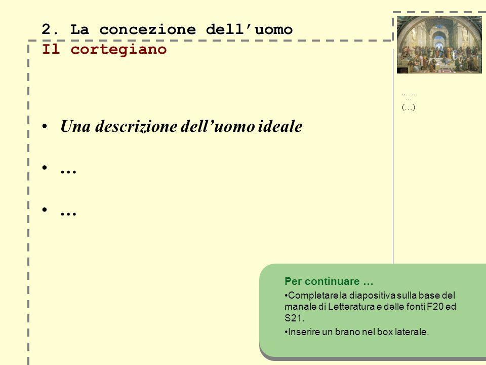 2. La concezione delluomo 2.