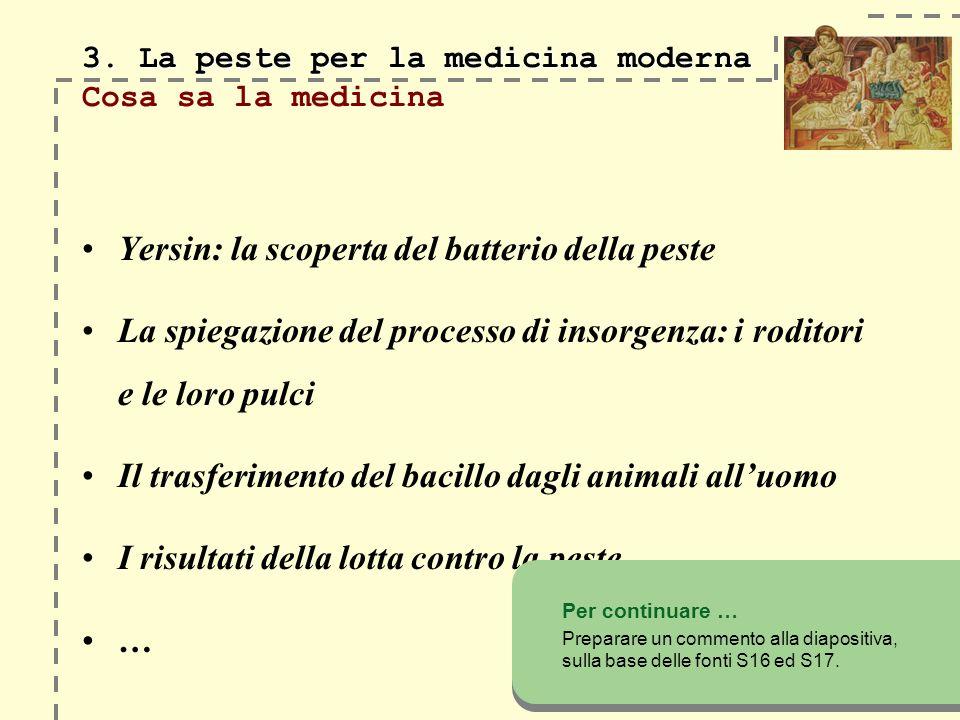 3.La peste per la medicina moderna 3.