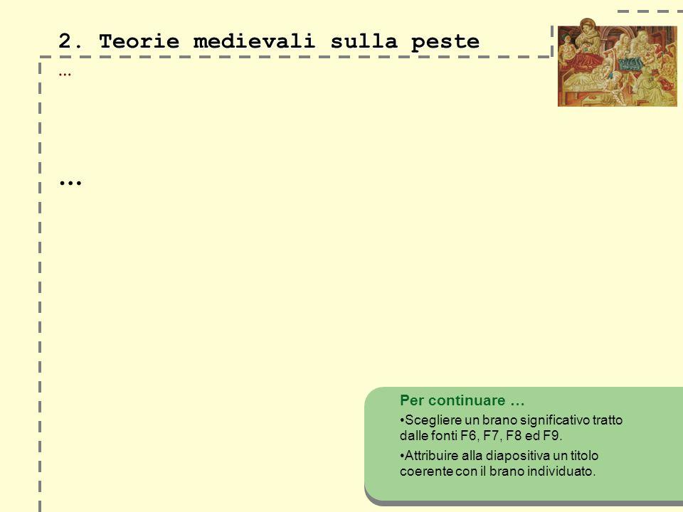 2.Teorie medievali sulla peste 2.