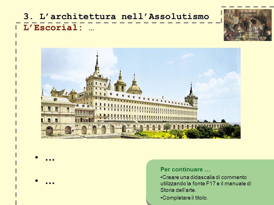 3. Larchitettura nellAssolutismo 3.