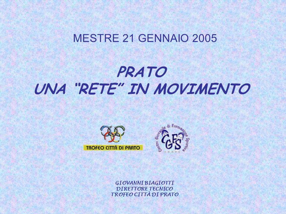 MESTRE 21 GENNAIO 2005 PRATO UNA RETE IN MOVIMENTO GIOVANNI BIAGIOTTI DIRETTORE TECNICO TROFEO CITTÀ DI PRATO