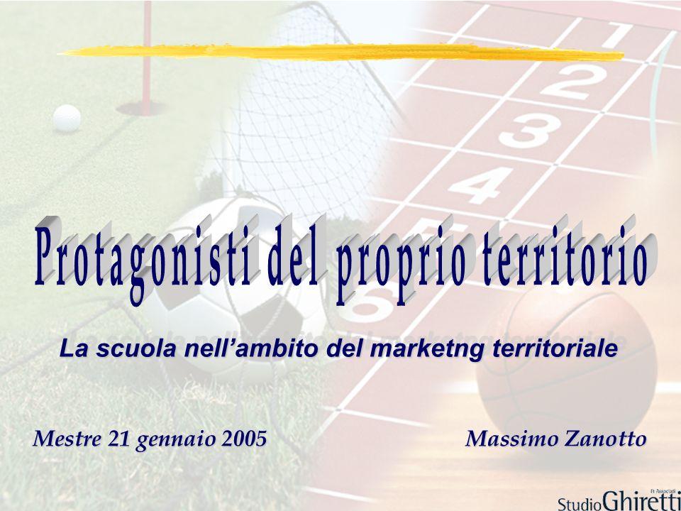 Mestre 21 gennaio 2005 Massimo Zanotto La scuola nellambito del marketng territoriale