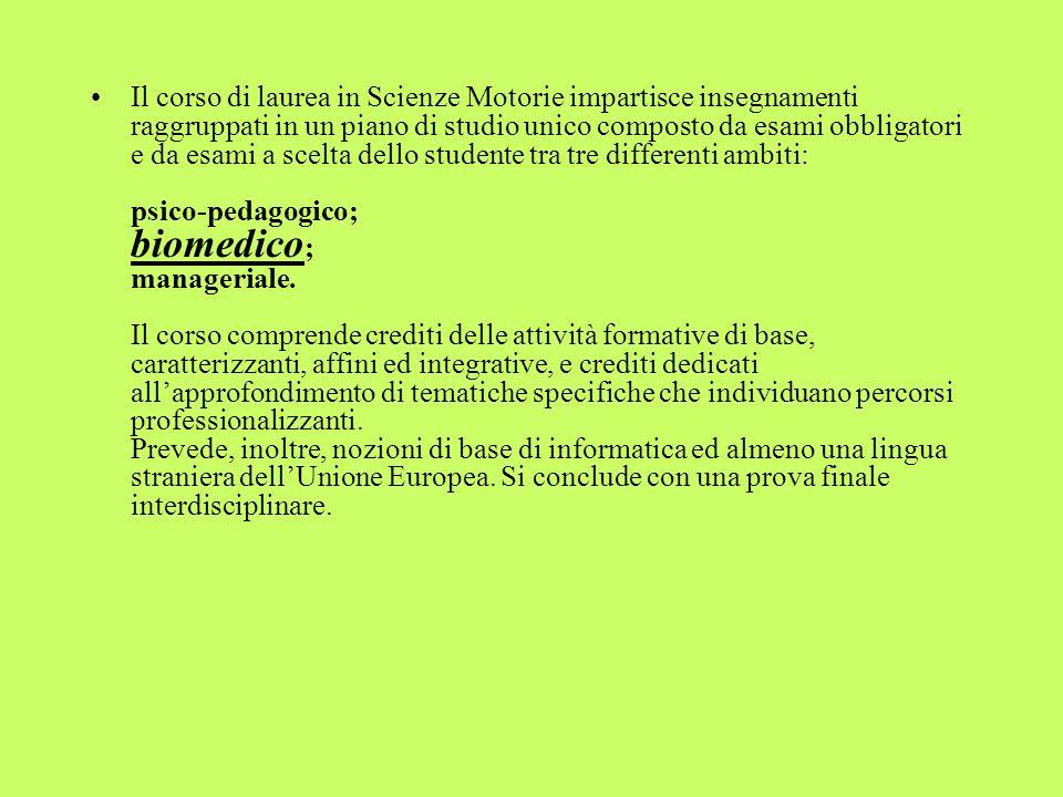 ESEMPIO DI FORMAZIONE DI UNA UNIVERSITA ITALIANA