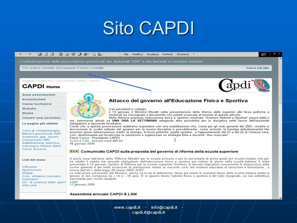 www.capdi.it - info@capdi.it - capdi.it@capdi.it Sito CAPDI