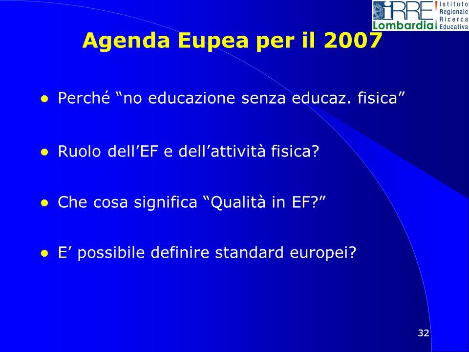 32 Agenda Eupea per il 2007 l Perché no educazione senza educaz.