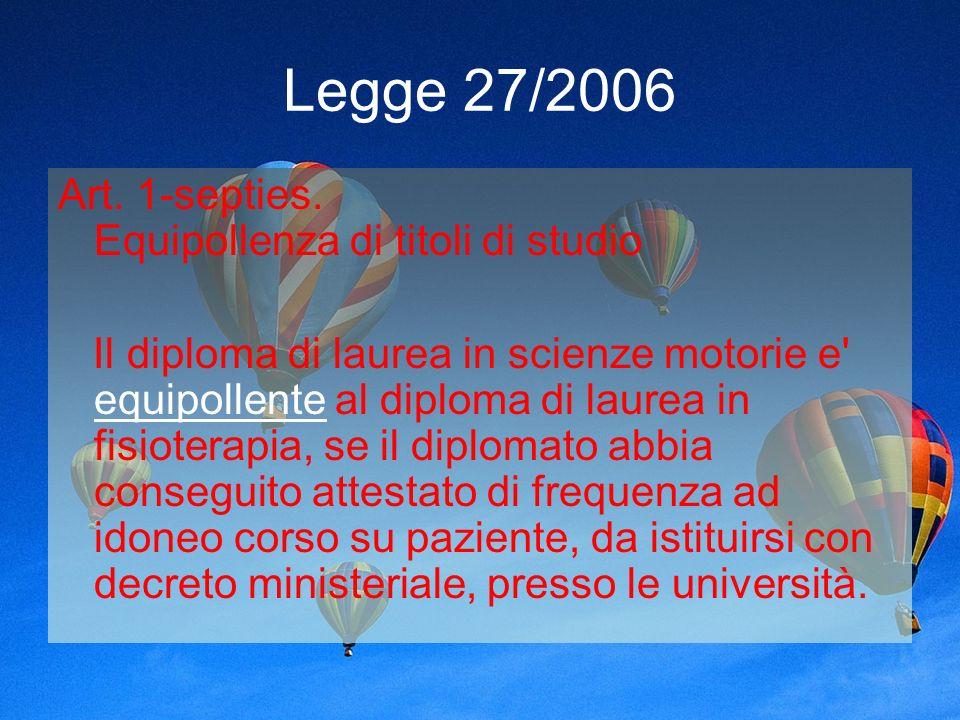 Legge 27/2006 Art.1-septies.