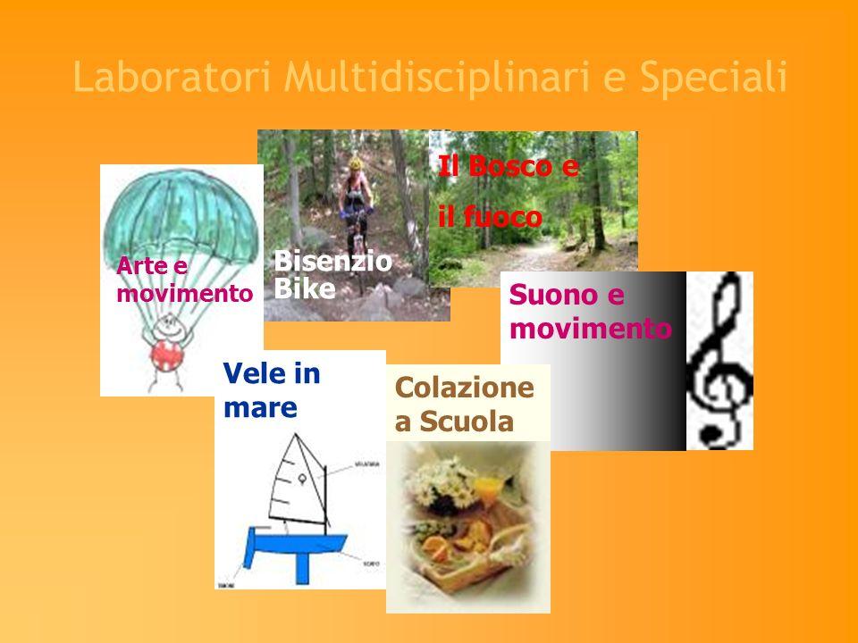 Laboratori Multidisciplinari e Speciali Bisenzio Bike Il Bosco e il fuoco Arte e movimento Suono e movimento Vele in mare Colazione a Scuola