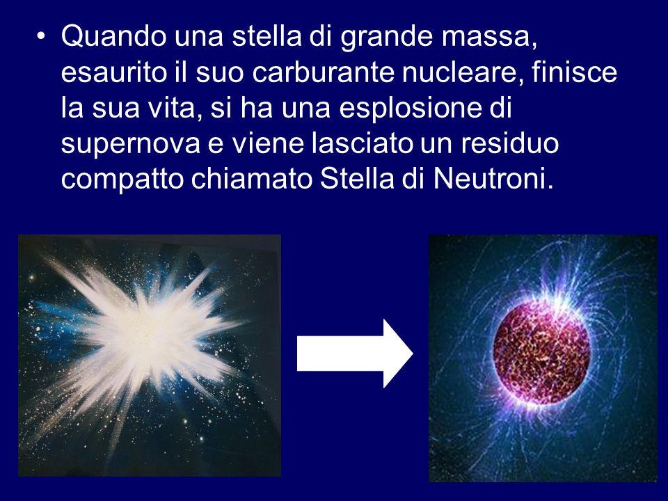 Quando una stella di grande massa, esaurito il suo carburante nucleare, finisce la sua vita, si ha una esplosione di supernova e viene lasciato un res