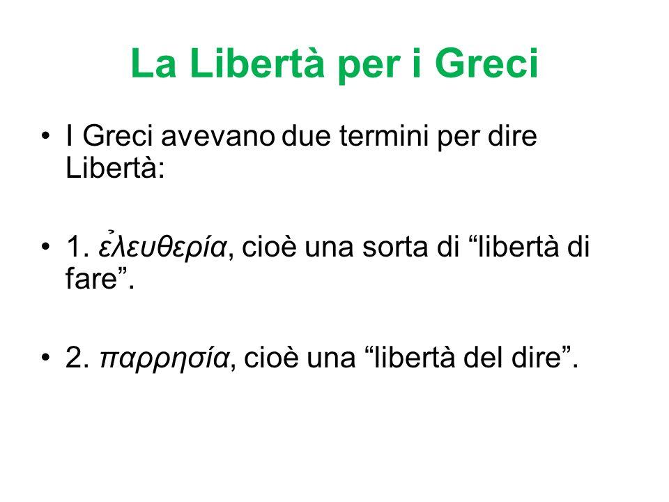 Libertà è un termine Analogo Libertà non ha un significato univoco, ma analogo, come vita.