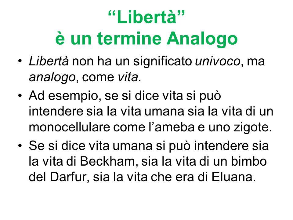 Se la Felicità ha molti nomi anche la Libertà si può dire in molti modi, come insegnava Aristotele.