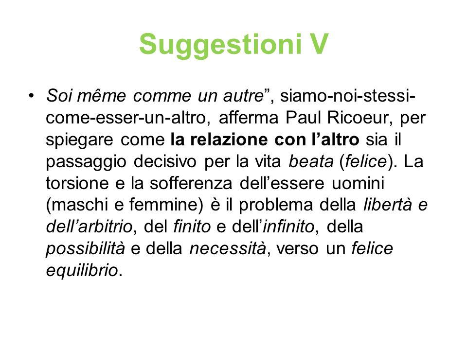 Suggestioni V Soi même comme un autre, siamo-noi-stessi- come-esser-un-altro, afferma Paul Ricoeur, per spiegare come la relazione con laltro sia il p