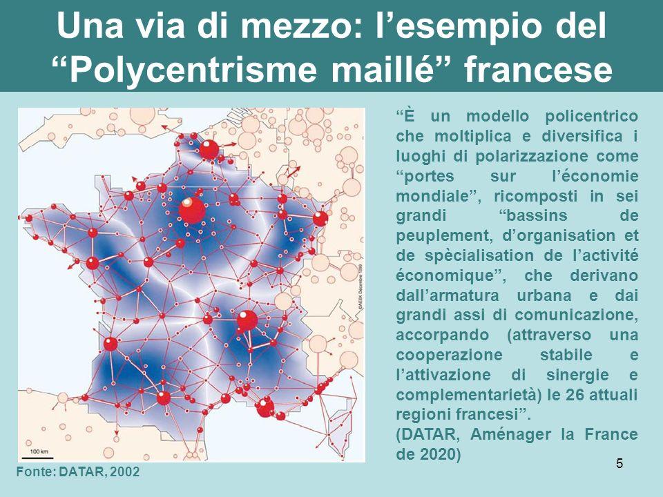 6 Il policentrismo italiano Fonte: ESPON, 2004 Fonte: Eu-Polis 2006 (ricerca ITATER della SIU per il Ministero delle Infrastrutture e Trasporti) Potenziali policentrici in Europa (PIA) Sistemi Macroregionali Funzionali in Italia (SiMaF) e connessioni infrastrutturali