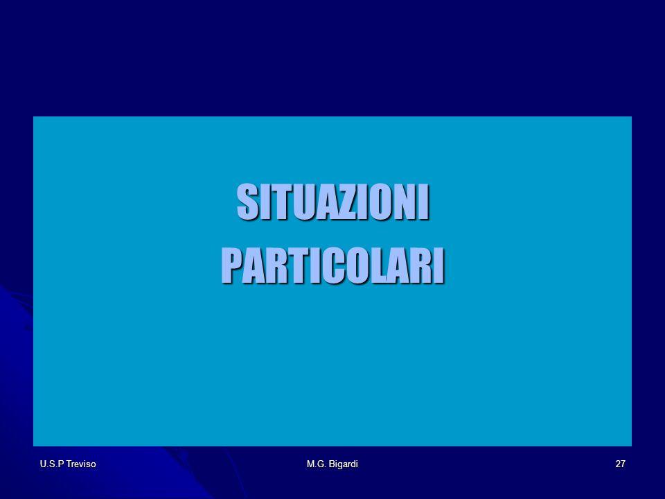 U.S.P TrevisoM.G. Bigardi27 SITUAZIONIPARTICOLARI