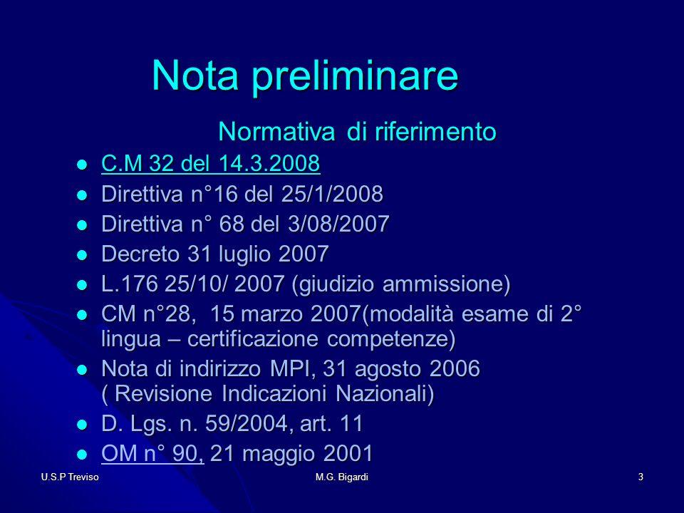 U.S.P TrevisoM.G.Bigardi34 Esami di adulti Esami di adulti 1.
