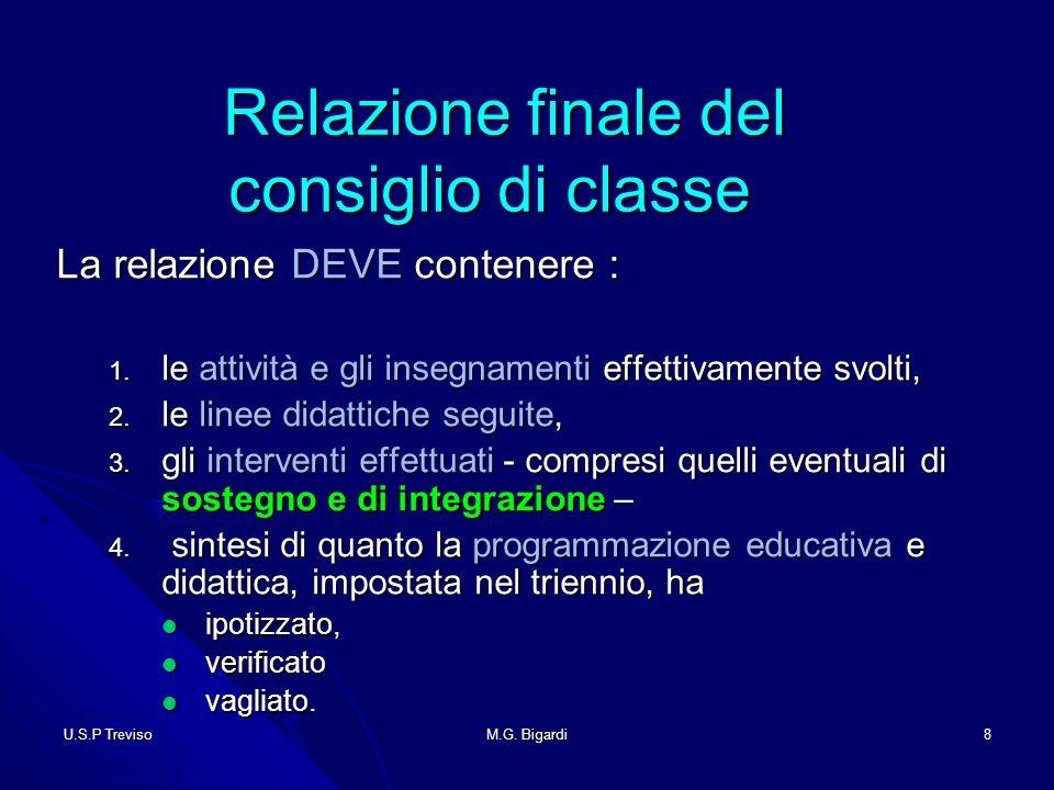 U.S.P TrevisoM.G.Bigardi29 Alunni diversamente abili Alunni diversamente abili 1.