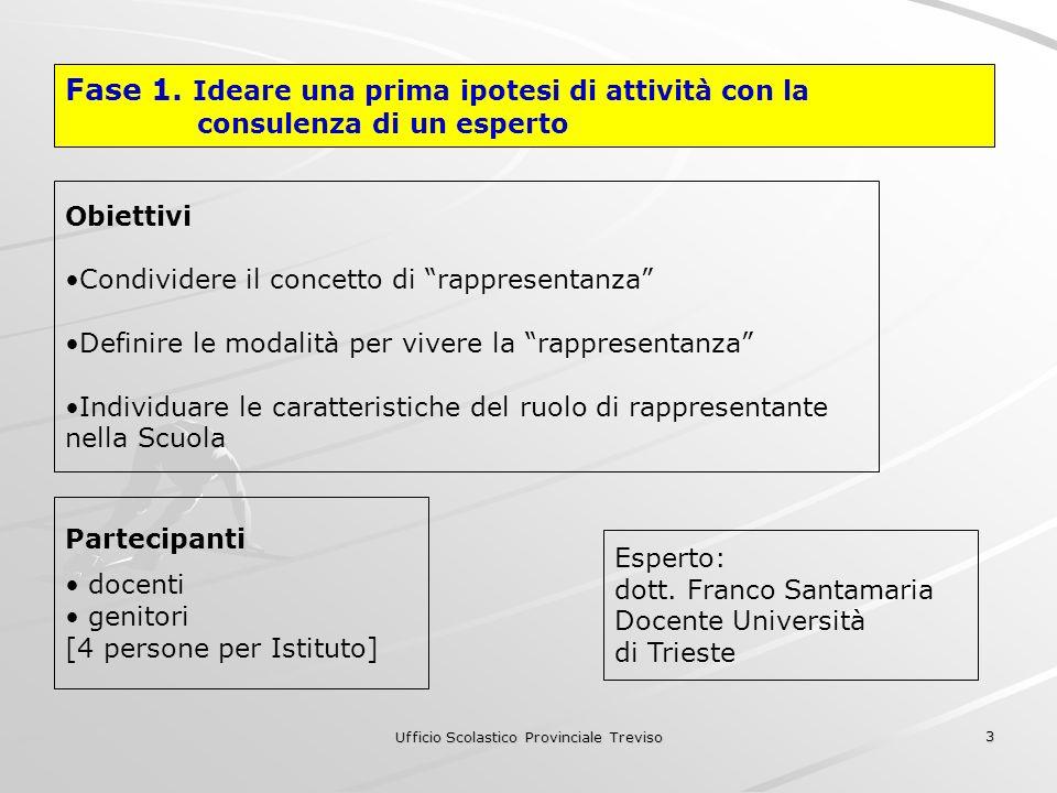 Ufficio Scolastico Provinciale Treviso 3 Fase 1.
