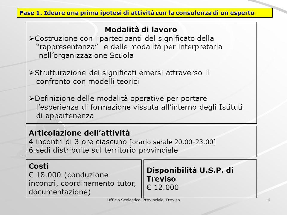 Ufficio Scolastico Provinciale Treviso 4 Modalità di lavoro Costruzione con i partecipanti del significato della rappresentanza e delle modalità per i