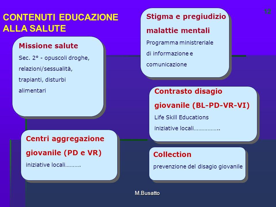 M.Busatto Centri aggregazione giovanile (PD e VR) iniziative locali……….
