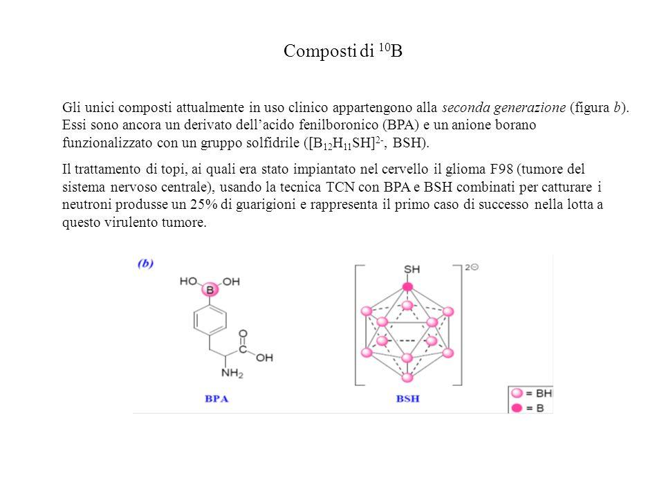 Composti di 10 B Gli unici composti attualmente in uso clinico appartengono alla seconda generazione (figura b). Essi sono ancora un derivato dellacid