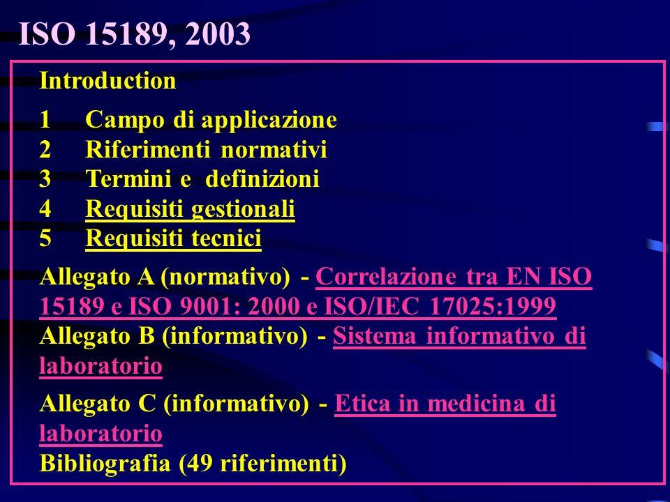 Introduction 1Campo di applicazione 2Riferimenti normativi 3Termini e definizioni 4Requisiti gestionali 5Requisiti tecnici Allegato A (normativo) - Co