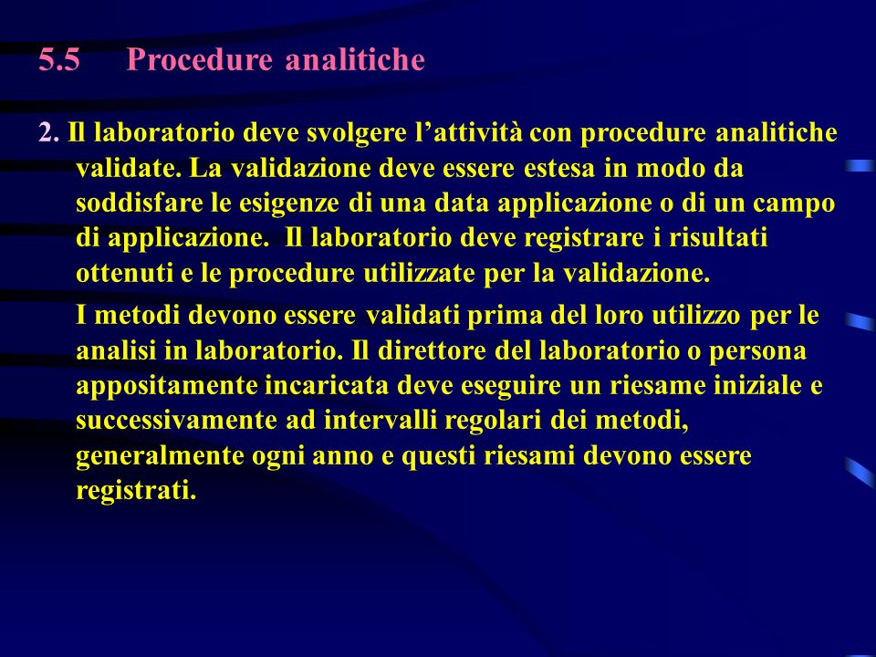 5.5Procedure analitiche 2.